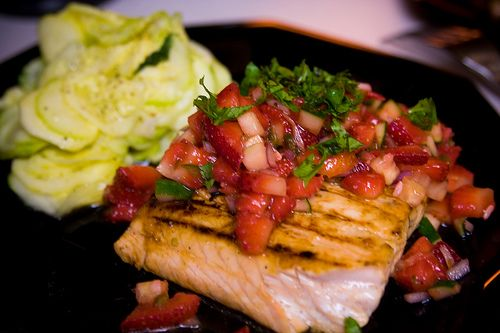 Balsamic Strawberry Salsa | Recipes to Try! | Pinterest