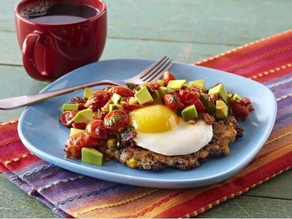 Fancy Up Your Veggies: Crispy Black Bean Corn Cakes with Avocado Salsa ...