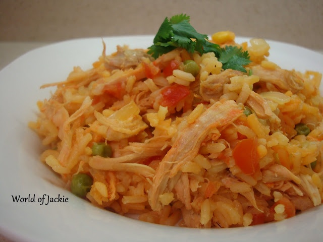 World of Jackie: Arroz con Pollo Colombiano (Colombian Style Rice and ...