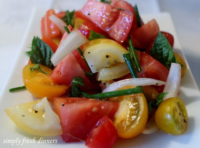 Corn, Sweet Onion, And Tomato Salad Recipe — Dishmaps