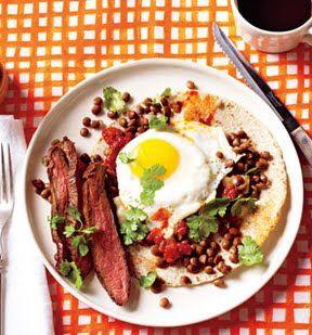 Steak and Eggs Rancheros | food & drink | Pinterest