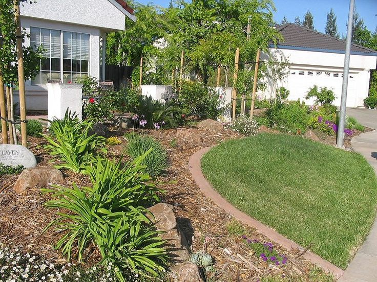 Full yard landscape low maintenance yards i like pinterest for Ideas for low water landscapes