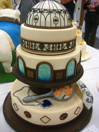 titanic wedding cake
