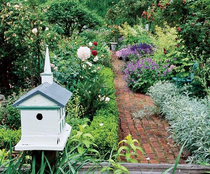 beautiful path in a cottage garden Cottage Garden