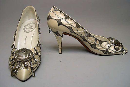 Вечерние туфли Roger Vivier для Дома Dior, 1961.