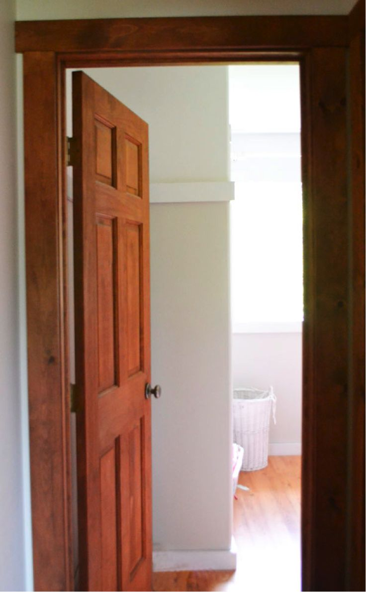 beautiful doorway rooms with wood stained trim pinterest. Black Bedroom Furniture Sets. Home Design Ideas