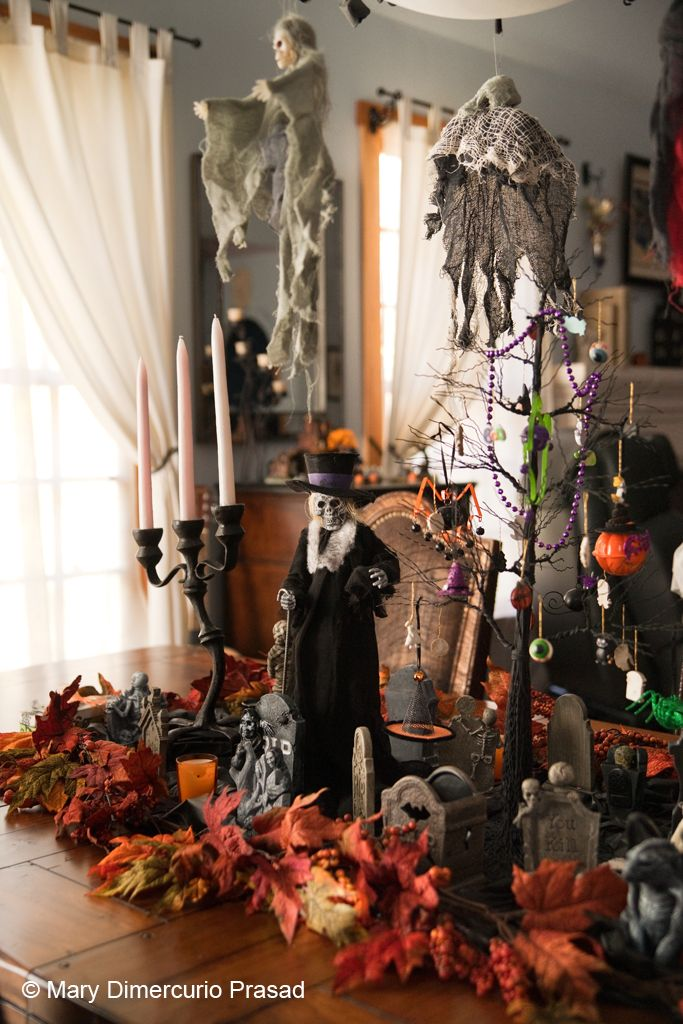 Dining Room Table Decorations Halloween Pinterest