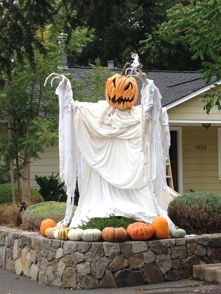 Pumpkin Ghost Halloween Decorating Idea