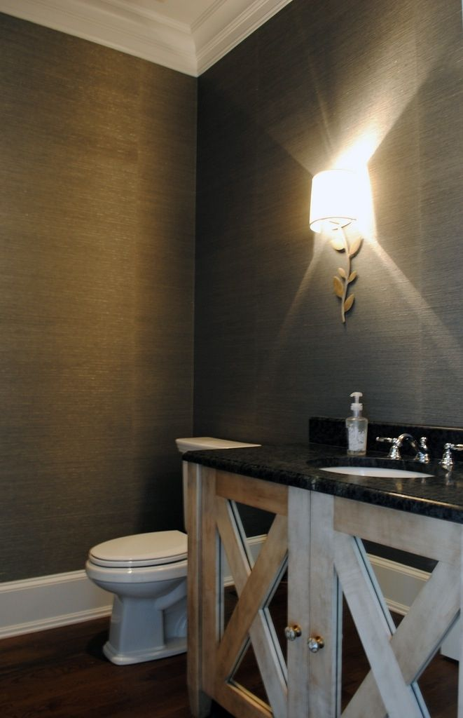 Powder room wallpaper bathrooms pinterest for Wall papers for rooms