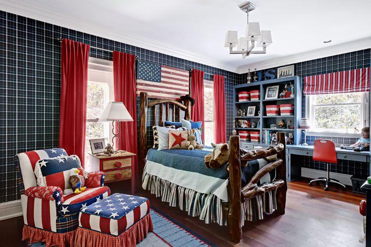 Patriotic boys bedroom americana themed pinterest for Americana bedroom ideas