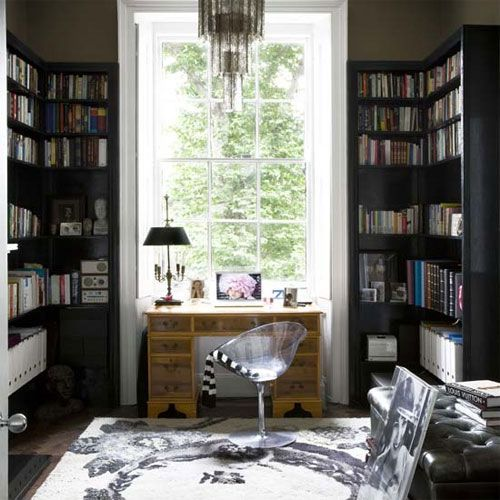 office black bookcase glamorous interiors pinterest