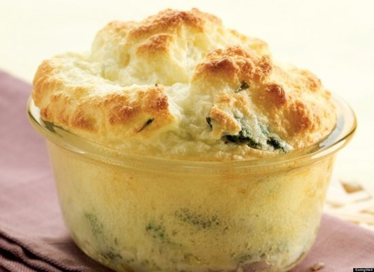 Asparagus and goat cheese souffles