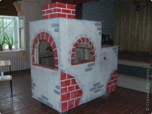 Печка из картона своими руками для детского сада 27