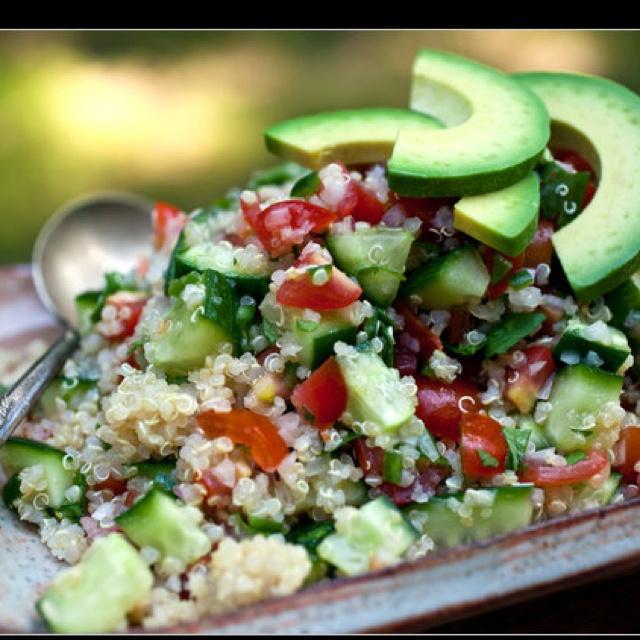 Spicy quinoa tomato and cucumber salad:) | Food | Pinterest