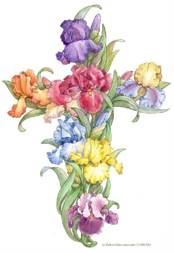 Iris Cross by Parker Fulton | Holiday: Easter | Pinterest