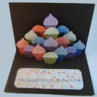 Extreme Cards and Papercrafting: cupcake cake pop up card