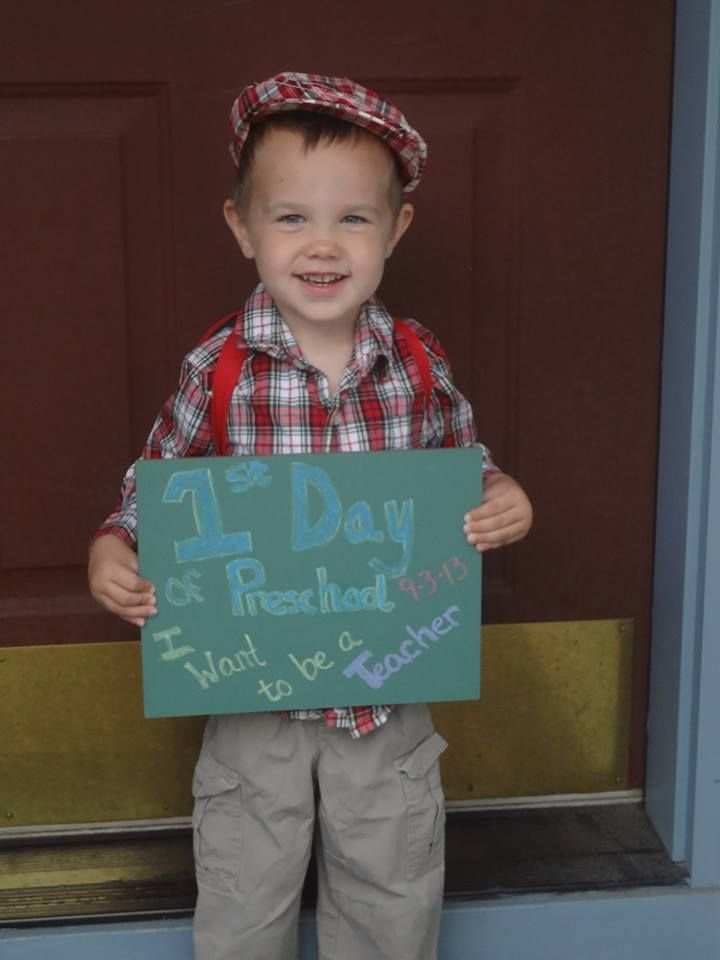 First day of preschool photo: wonderful memories of such a big ...