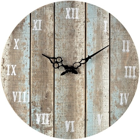 Cottage-Chic Wall Clock in Light Blue.  Barn Wood Creations  Pinter ...