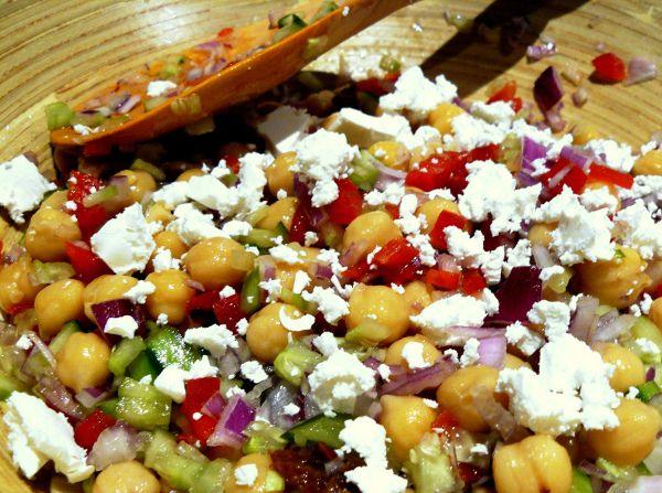 mediterranean chickpea salad 1 | Food | Pinterest
