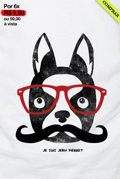 Camiseta Huck Dog Óculos
