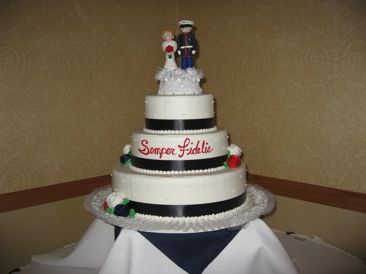 This Was Our Wedding Cake Marine Wedding Ideas
