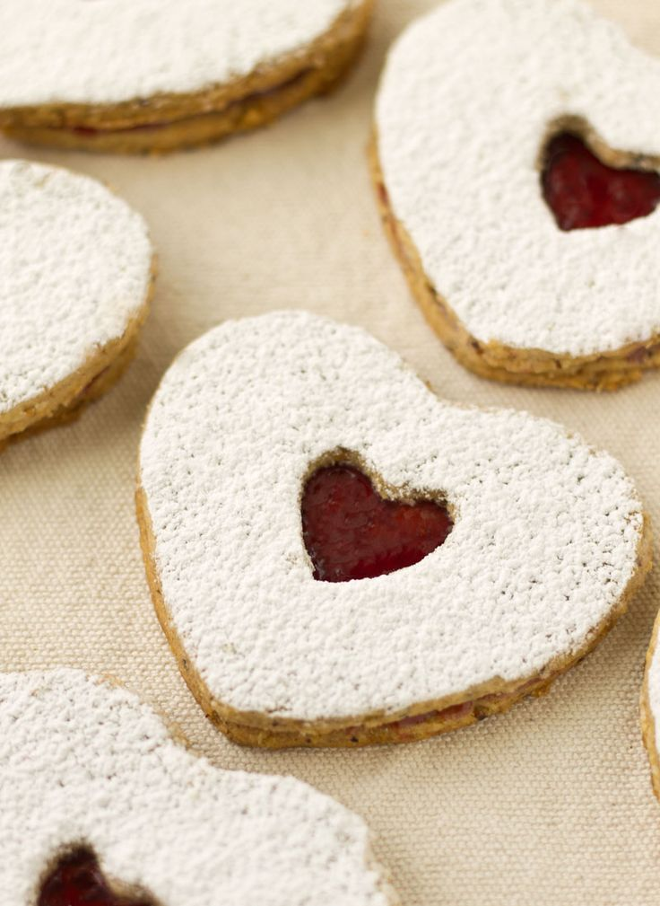 ... for Valentine's Day. | Raspberry Almond Linzer Cookies | Culinary Hill