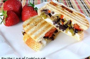 Tapenade, Mozzarella, and Tomato Panini | Food | Pinterest