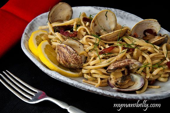 Linguini with Clams, Bacon and Fennel | Recipe