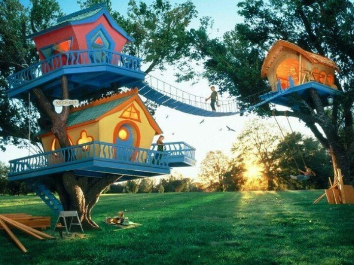 Amazing Tree House Cool Design Pinterest