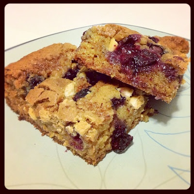 Blueberry White Chocolate Blondies | Favorite Recipes | Pinterest