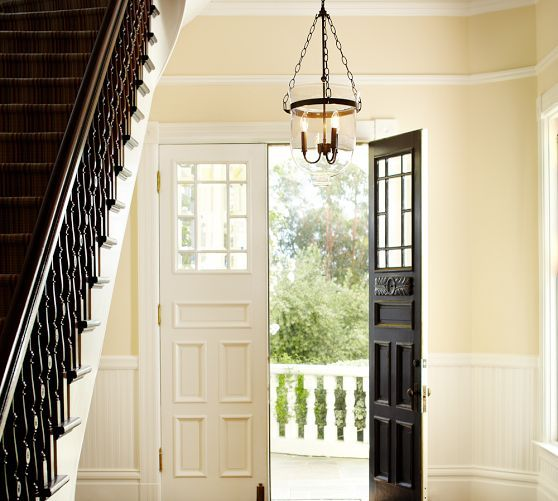 Foyer Lighting Pottery Barn : Hundi lantern