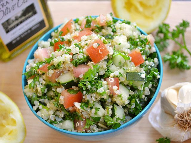 Quinoa Tabbouleh and more | Recipes | Pinterest