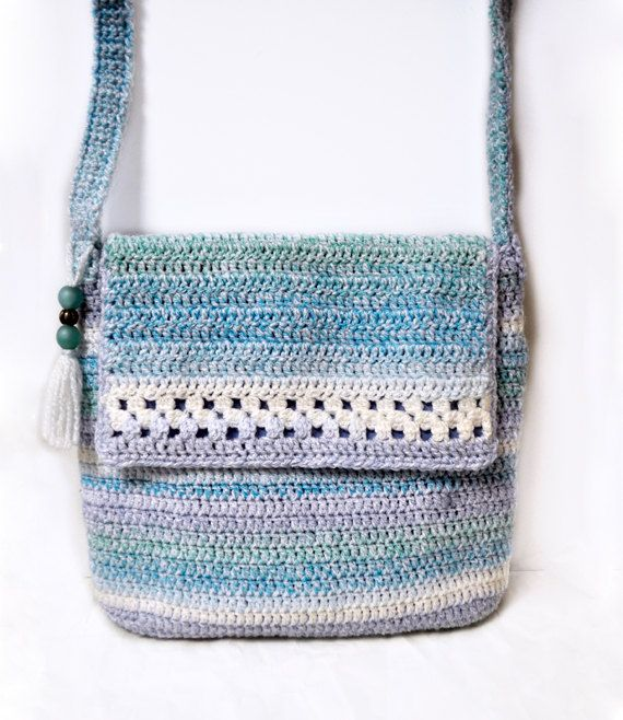 By The Sea/ handmade, crochet bag, shoulder bag, purse ...
