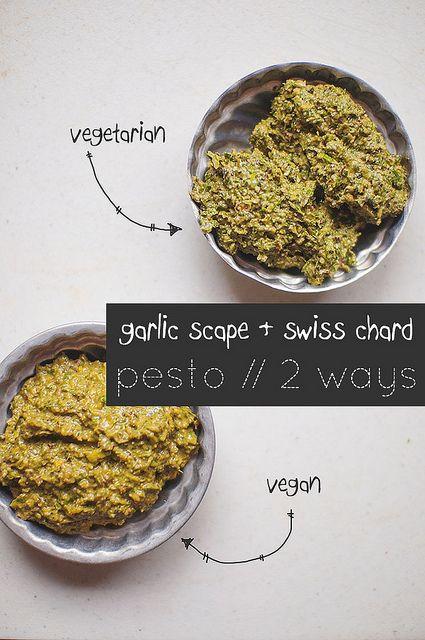 garlic scape and swiss chard pesto | garden eats | Pinterest