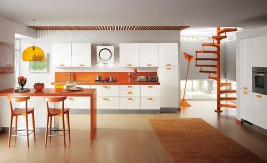 Tangerine Tango Kitchen  Pantone color of 2012 Tangerine Tango  Pa