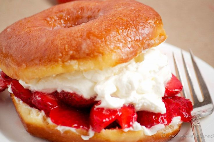 Now that's what I call amazing! Donut Strawberry Shortcake