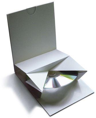 origami folded cd case packaging pinterest