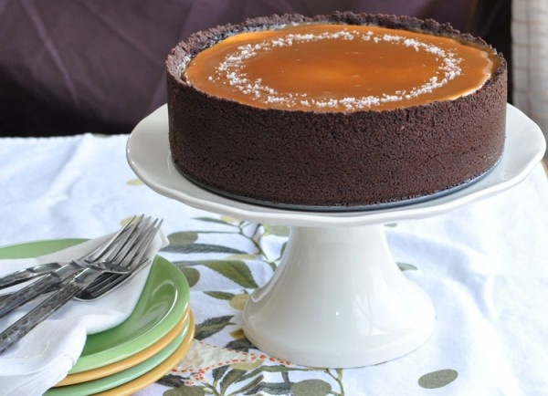 Chocolate Caramel Cheesecake With Chocolate Wafer Base Recipes ...