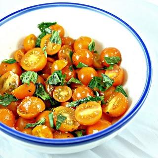 Tomato & Basil Salad for a Corn, Tomato & Basil Risotto