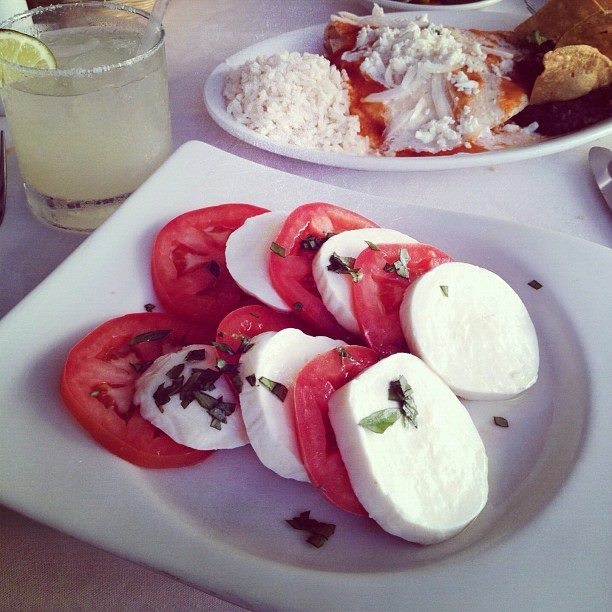 Caprese, Enchiladas and Mexican Margaritas by the beach. #life # ...
