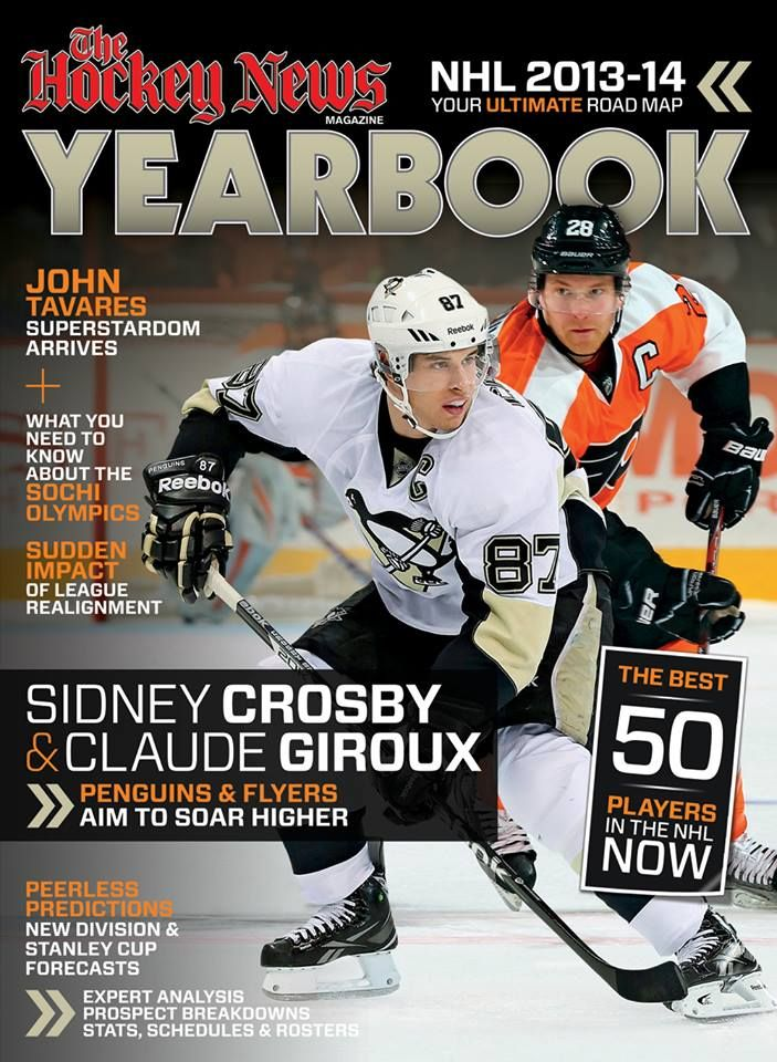 Crosby and giroux grace the cover of the 2013 14 yearbook by thn