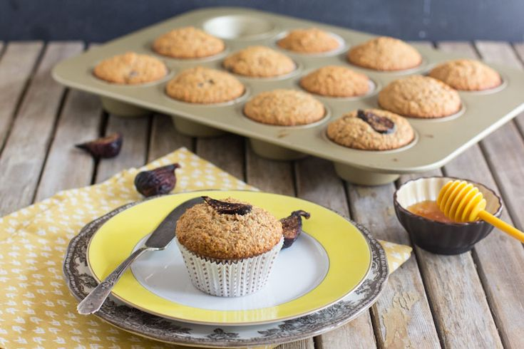 Honey and Fig Bran Muffins | YUM | Pinterest