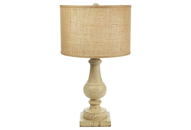 one kings lane french country table lamp distressed on onekingslane. Black Bedroom Furniture Sets. Home Design Ideas