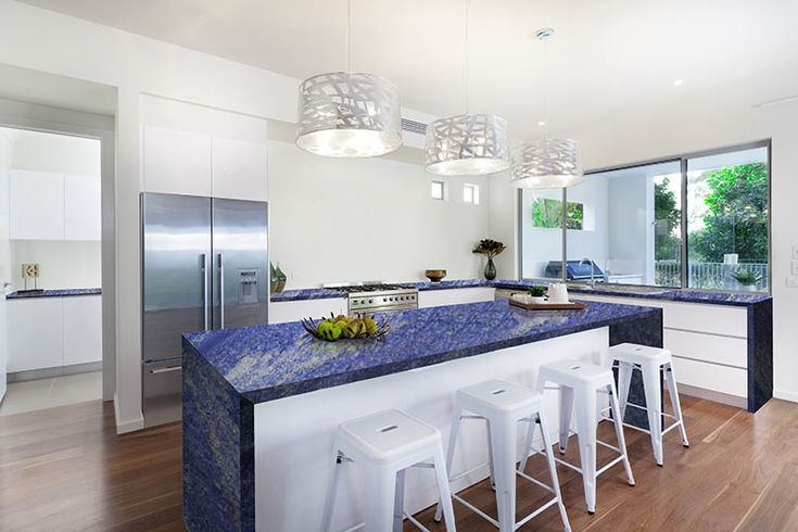 Blue Onyx Countertops : Countertop and isle with blue onyx kitchen pinterest