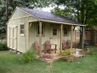 Classic 12 x 16 Loafing/Time Out Shed.