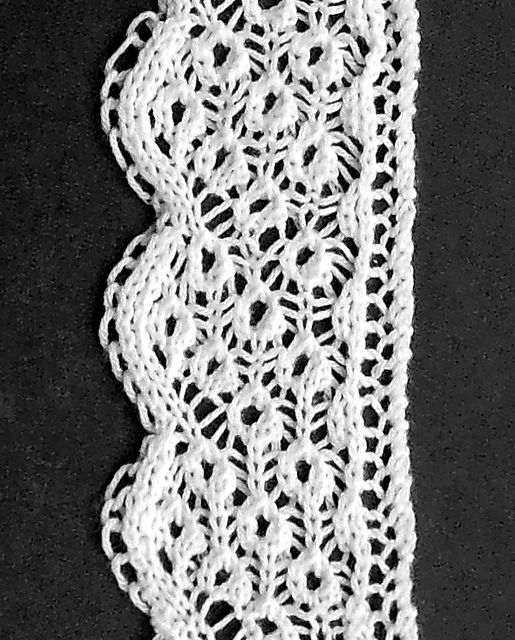 Ravelry: 1846 Point Lace Edging pattern by Ashley Dale- - free knitting pattern
