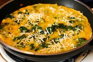 Kalyn's Kitchen®: Red Kale and Cheese Omelette for Two