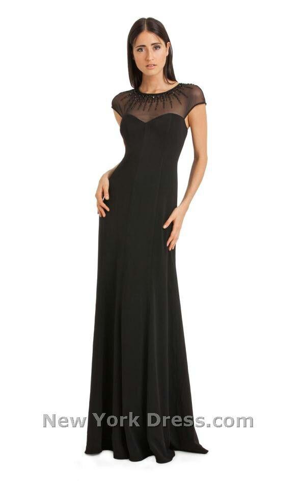 Black Beaded Neckline Dress
