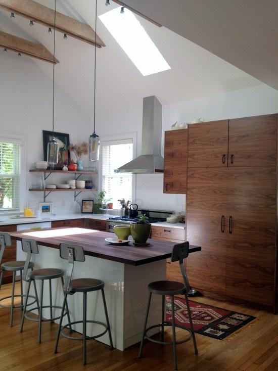 Ikea Custom Walnut Cabinets Kitchen Pinterest