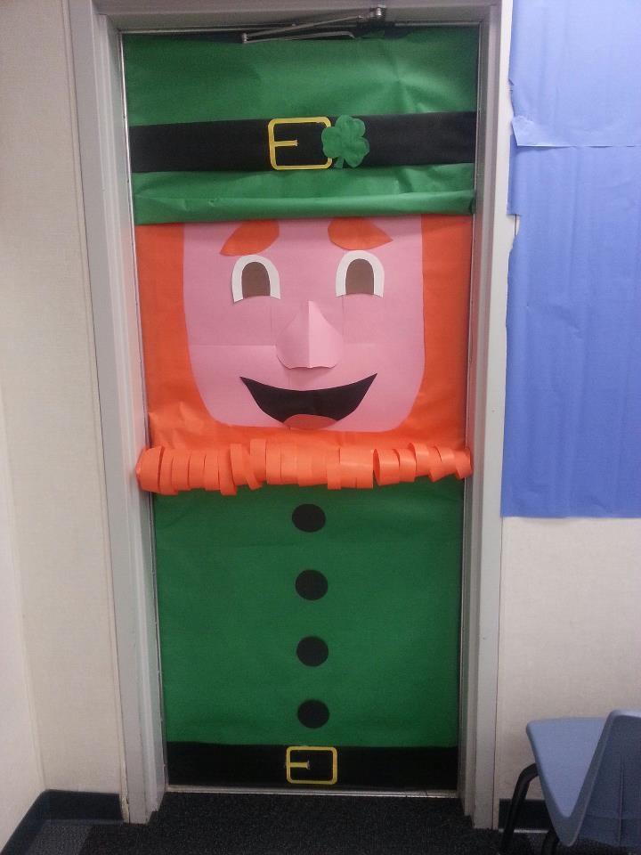Leprechaun Classroom Visit Ideas ~ Leprechaun door classroom ideas pinterest
